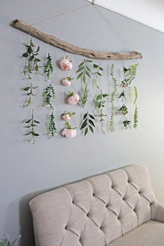 Photo of Boho Home Decor Flower Wall Hanging Boho Flower Wall Hanging Boho Wall Hanging Greenery …