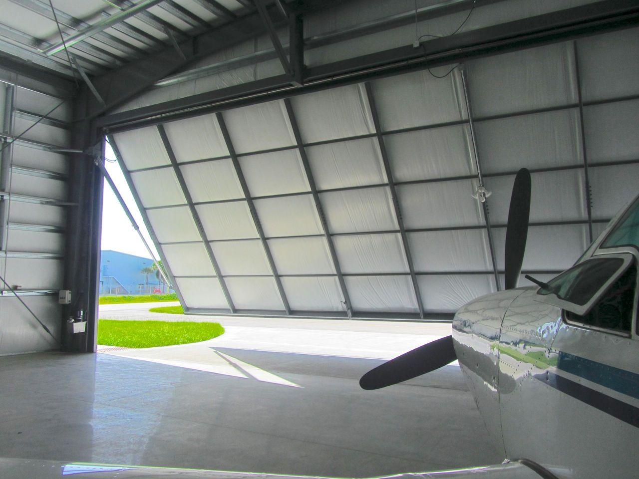 Hangar Door or Hydraulic Door at an airport in Melbourne Florida.  http://www.aero-door.com