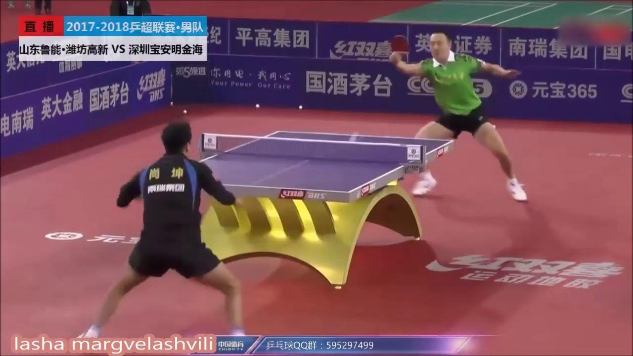 Xu Chenhao Vs Shang Kun China Super League 2018 With Images Table Tennis League Basketball Court