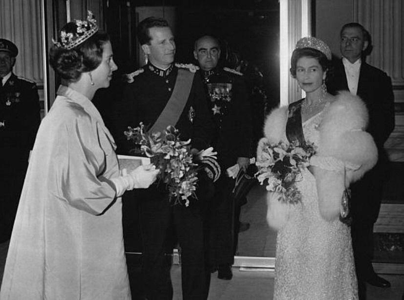 Queen Fabiola and King Baudouin of Belgium with Queen Elizabeth ii