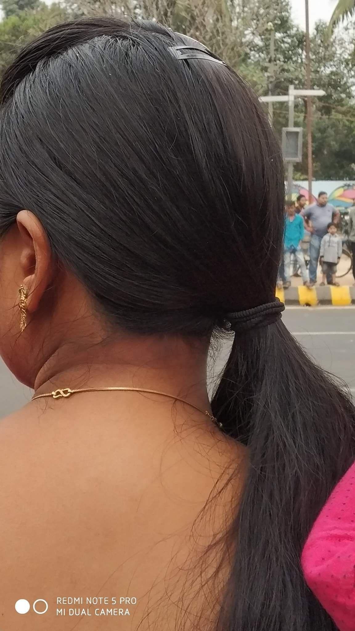 Pin by Car 🚗Saling on fairozkhan | Long indian hair, Ponytail hairstyles, Bun hairstyles
