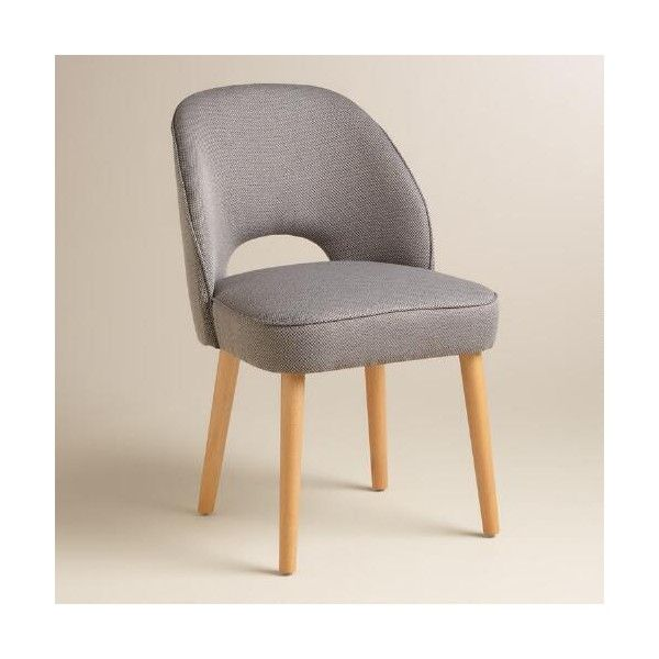 Cost Plus World Market Gray Hazel Split Back Dining Chairs Set of 2 ($280) ? liked on Polyvore featuring home furniture chairs dining chairs grey ...  sc 1 st  Pinterest & Cost Plus World Market Gray Hazel Split Back Dining Chairs Set of 2 ...