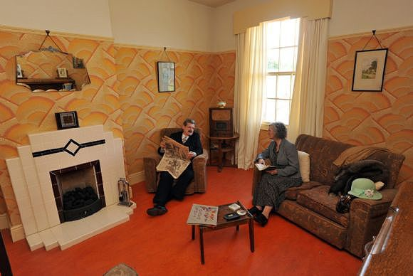 1930s house interiors. Inside the 1930s house  Man spends 10 000 decorating his home and Art deco fireplace