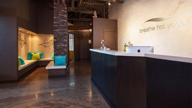 Foyer Ceiling Yoga : Hot yoga studio design mckenzie towne reception area
