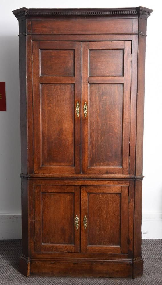 Impressive Large Oak Antique Corner Cupboard or Cabinet Made in England  #Georgian - Impressive Large Oak Antique Corner Cupboard Or Cabinet Made In
