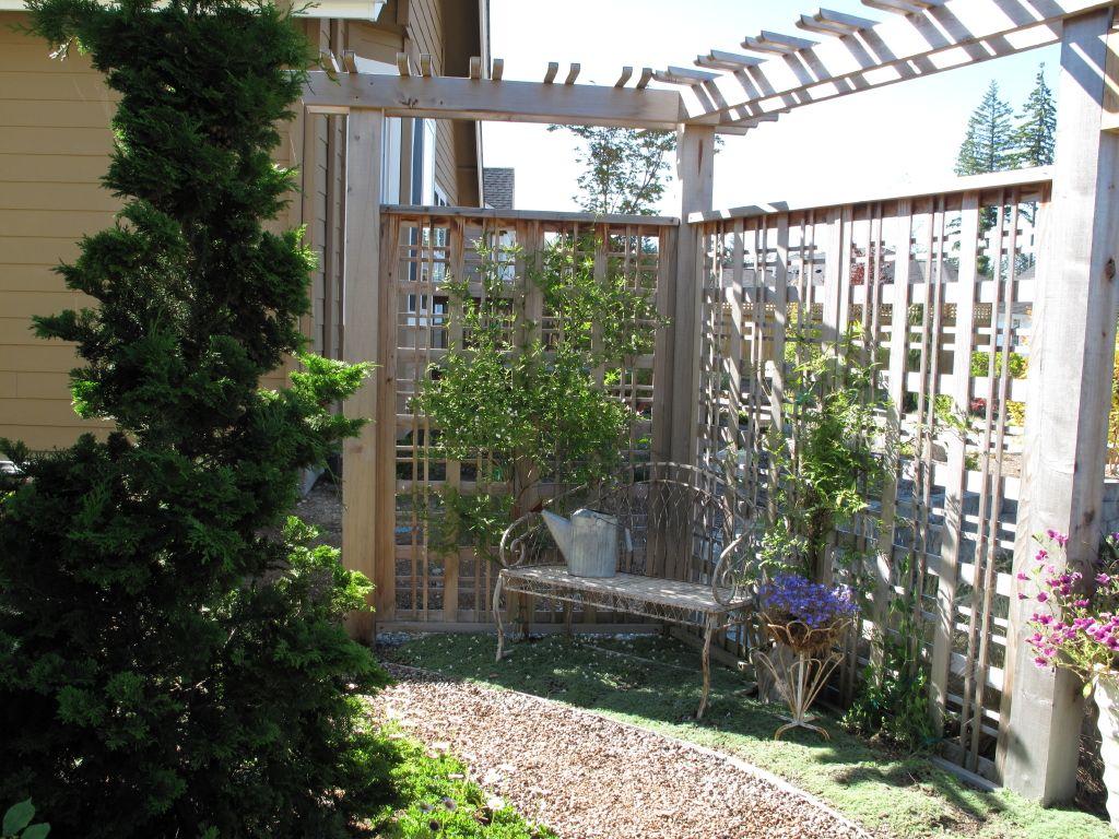 Trellis Screening Ideas Part - 45: Corner Garden Trellis - Google Search