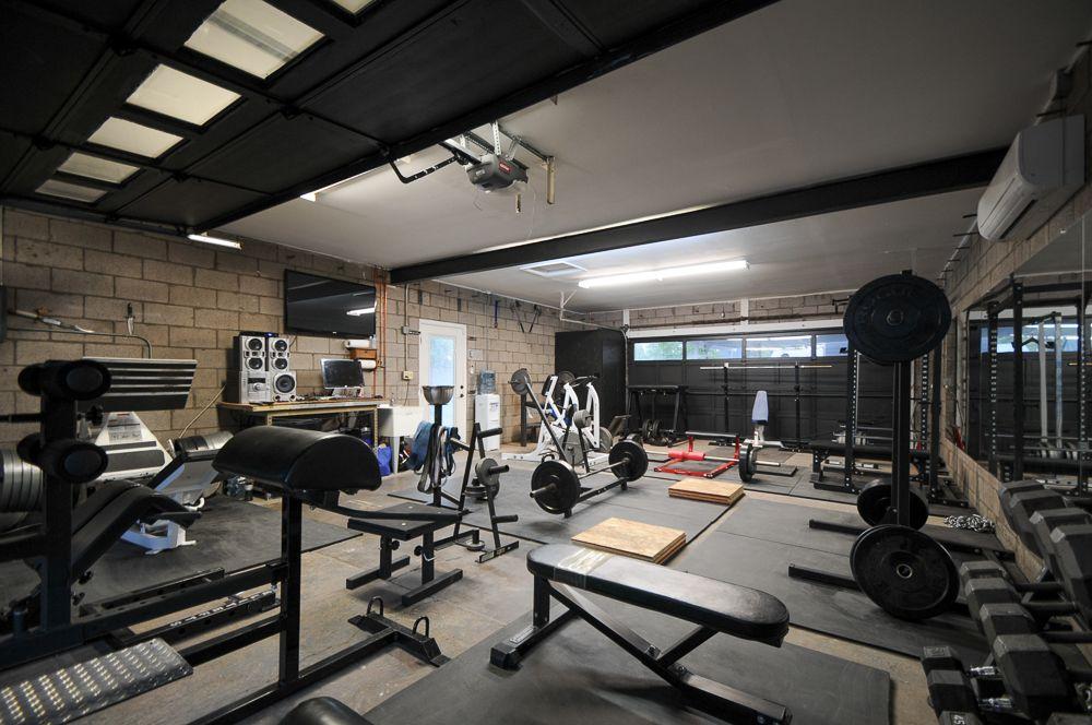 New Improved Garage Gym Home Gym Garage Home Home Gym Design