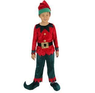 Charming Santa Claus Lovely Elf Kids Cosplay Costume Children Christmas Costume  Santa Clausu0027s Little Boys Helper Costumes M 0817