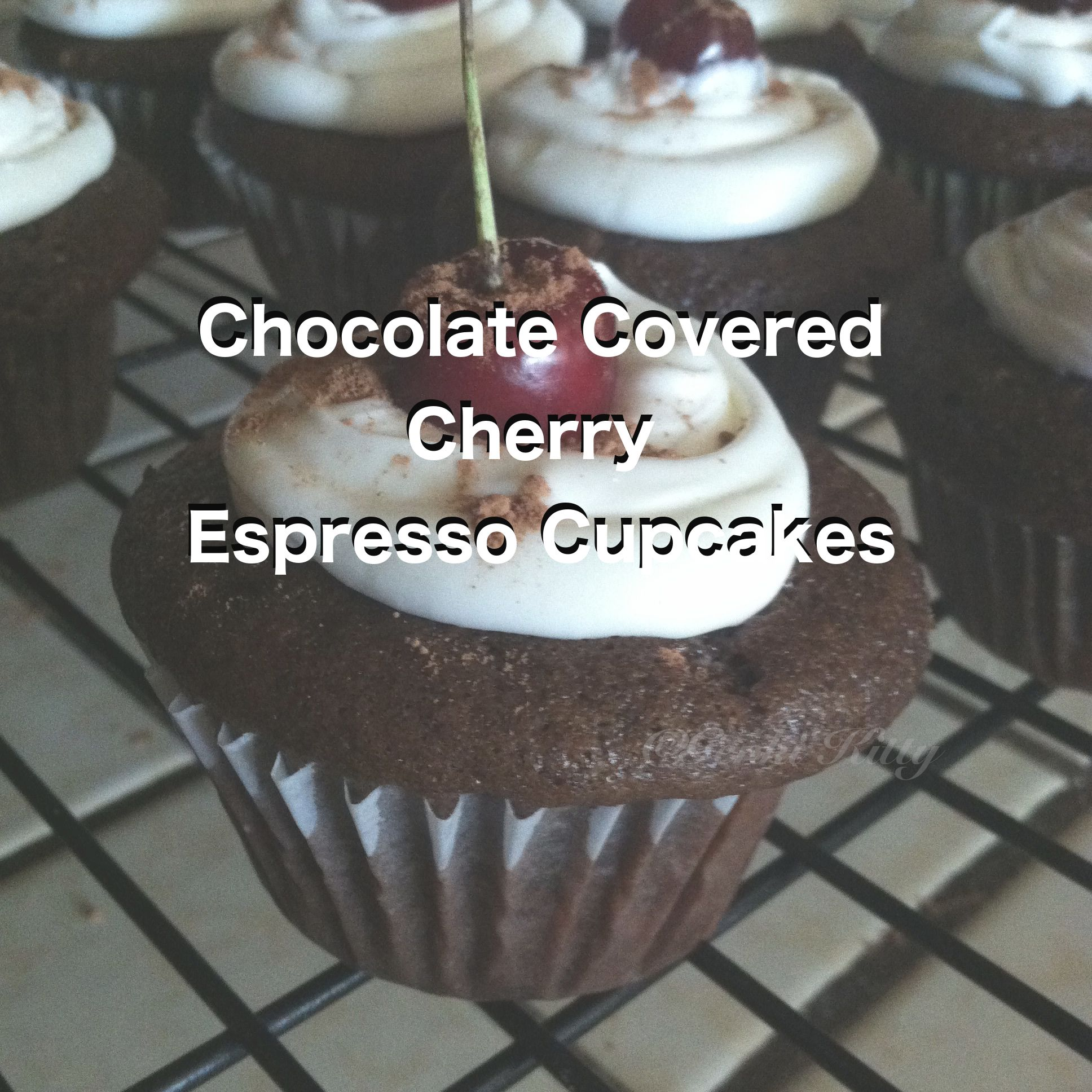 Chocolate Covered Cherry Espresso Cupcake Recipe Free