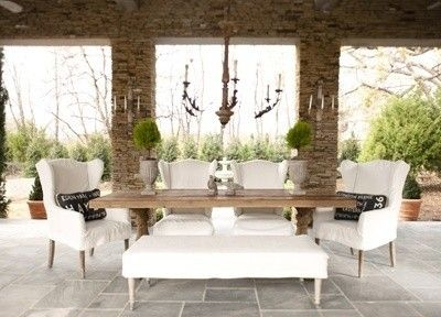 Outdoor eclectic dining room