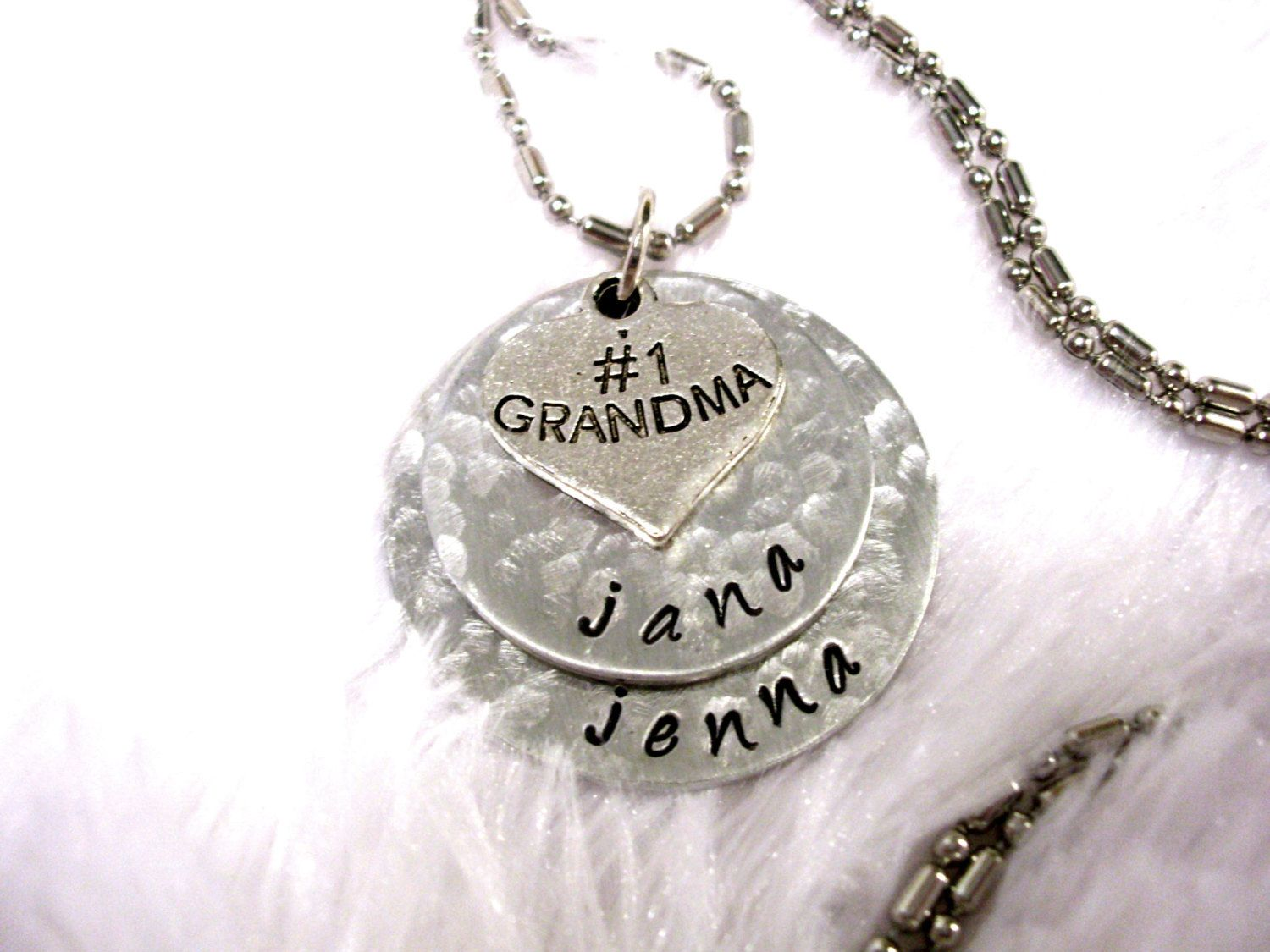 grandma necklace personalized jewelry hand stamped by charmaccents