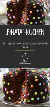 Photo of Wie eine echte Piñata: Der saftige, leckere Schokoladenkuchen zeigt seine Über…