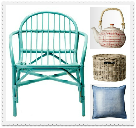 From Bloomingille's blog, love that shade of blue next to anything:)