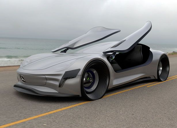 Mercedes Sl Pure Concept Car By Matthias Bottcher Mercedes Sl Concept Cars Mercedes Concept