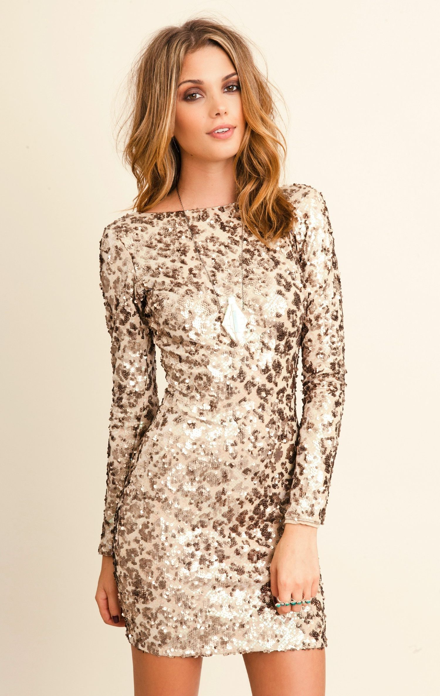 Long Sleeve Sequin Dress Knee Length | LongSleeve Dress | Pinterest