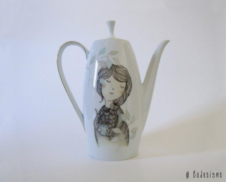New teapot lovely garden by Bodesigns
