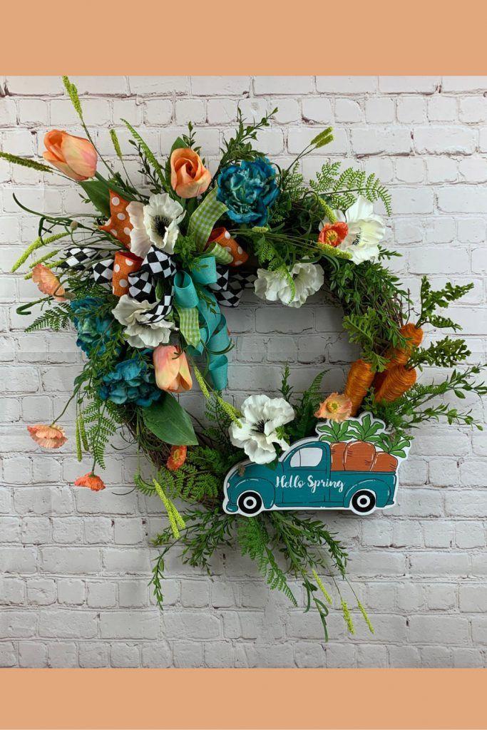 Photo of Spring Wreath Inspiration – Trendy Tree Blog  Holiday Decor Inspiration   Wreath Tutorials Holiday Decorations  Mesh & Ribbons