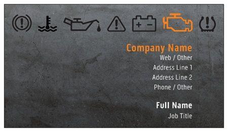 Dark Gray Auto Mechanic Business Cards Bold Orange Business