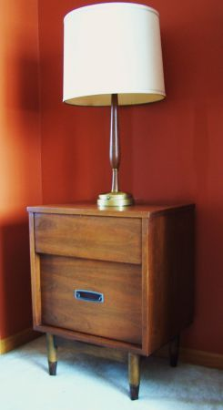 Minneapolis: Mid Century Modern Mainline By Hooker Walnut Nightstand $60    Http://