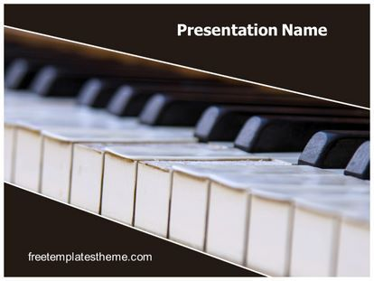 download #free #piano #powerpoint #template for your #powerpoint, Powerpoint templates