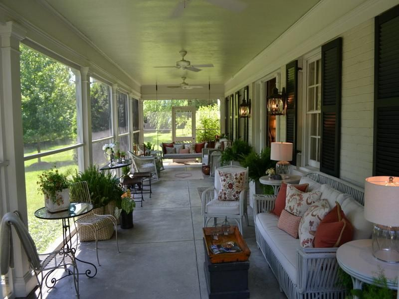 House Great Screened Porch Furniture Ideas