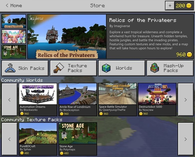 Minecraft Marketplace coming, creators getting a new