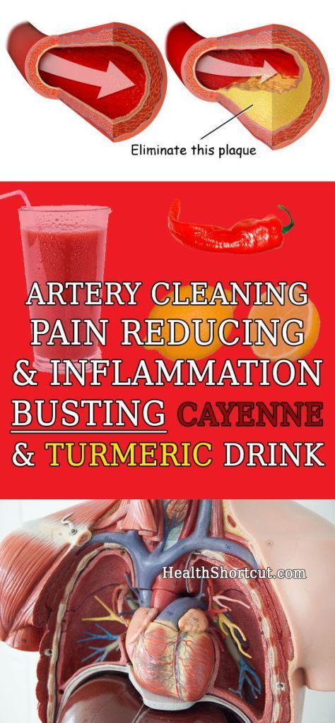 Use This Drink To Remove Plaque from Your Arteries and Kill Inflammation in the