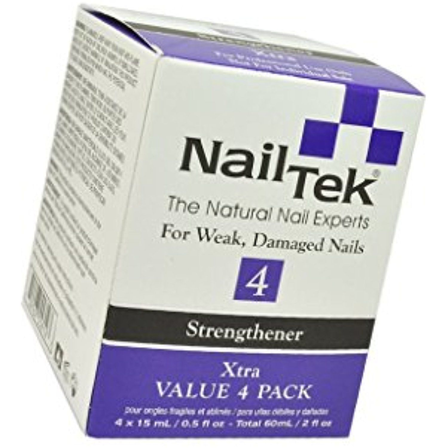 Pro Pack Nail Tek Xtra 4 For Weak and Damaged Nails, resistant nails ...