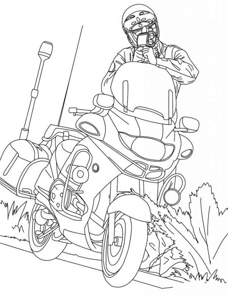 Printable Motorcycle Coloring Page Truck Coloring Pages Coloring Pages For Kids Coloring Pages