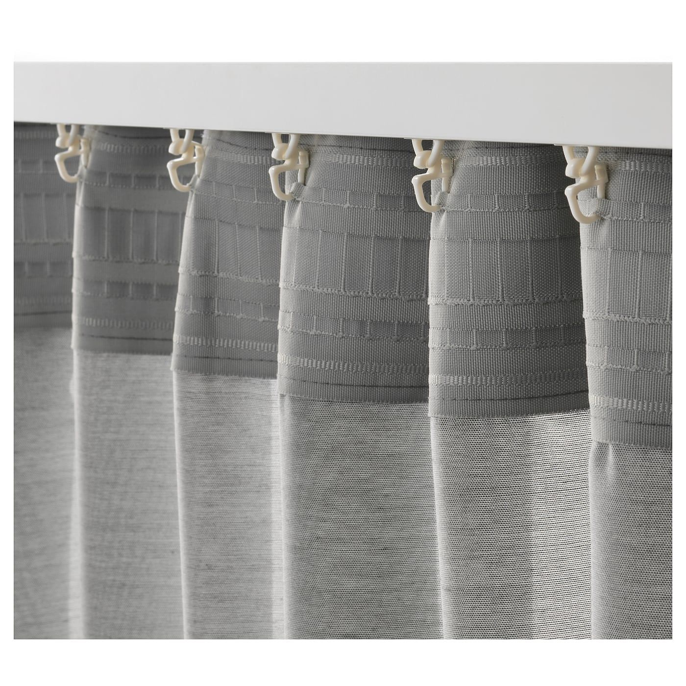 Hilja 2 Gardinenschals Grau 145x300 Cm Ikea Österreich Curtains Grey Linen Curtains Wave Curtains - Ikea Vorhang Hilja