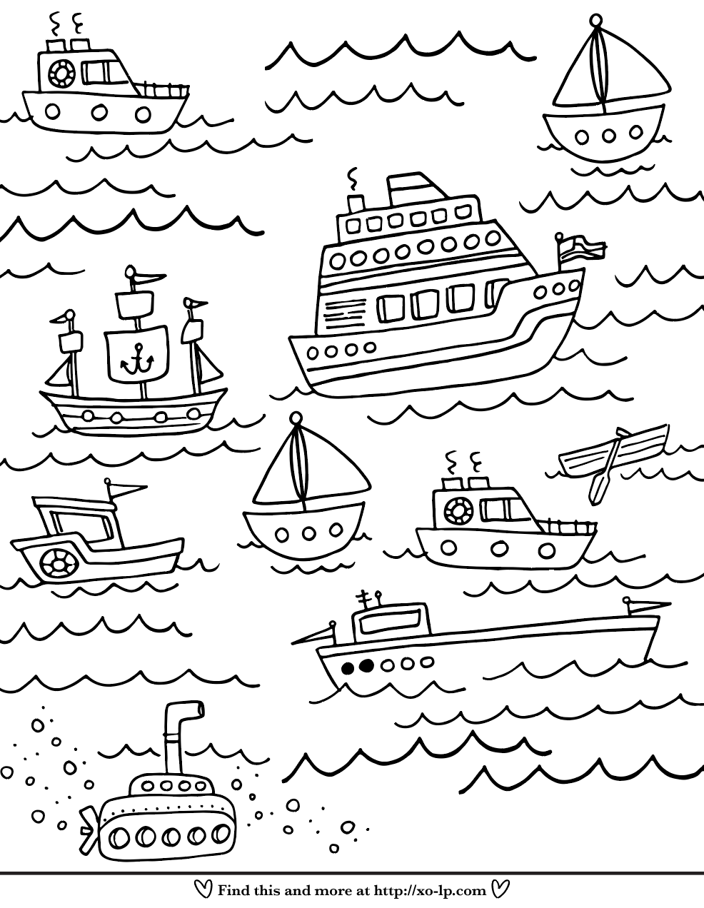 Boats Coloring Page Xo Lp Coloring Pages Kids Doodles Printable Coloring Pages [ 1272 x 986 Pixel ]