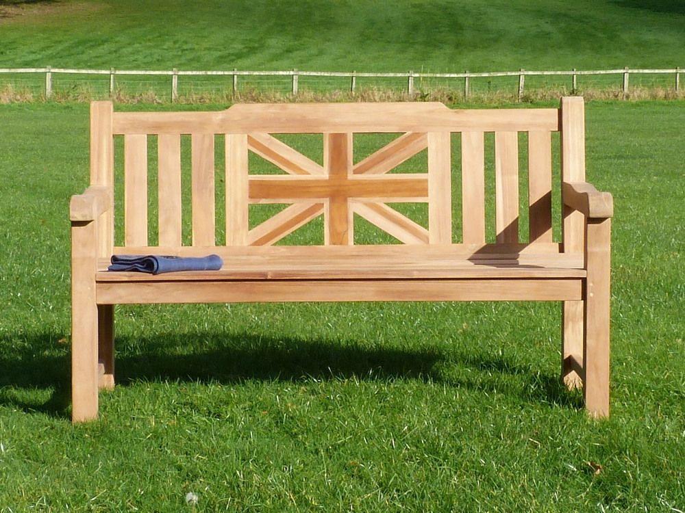 War Memorial Bench | Chunky Teak Garden Bench