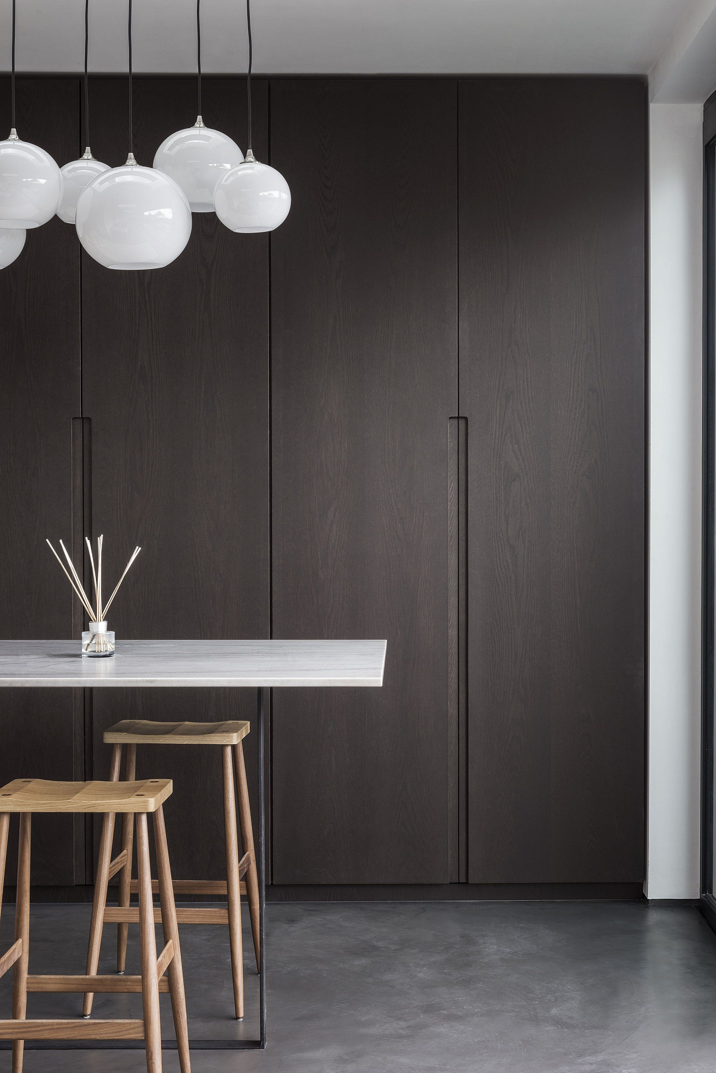Innenarchitektur Esszimmer K6 D90 By Tm Italia Cucine Kitchen In Stone And Materic Dark