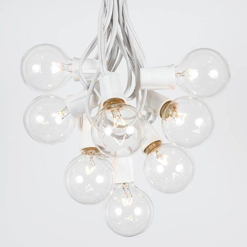 Replacement Bulbs For String Lights Alluring 25 Foot G50 Outdoor Lighting Patio Globe String Lights Clear White Inspiration