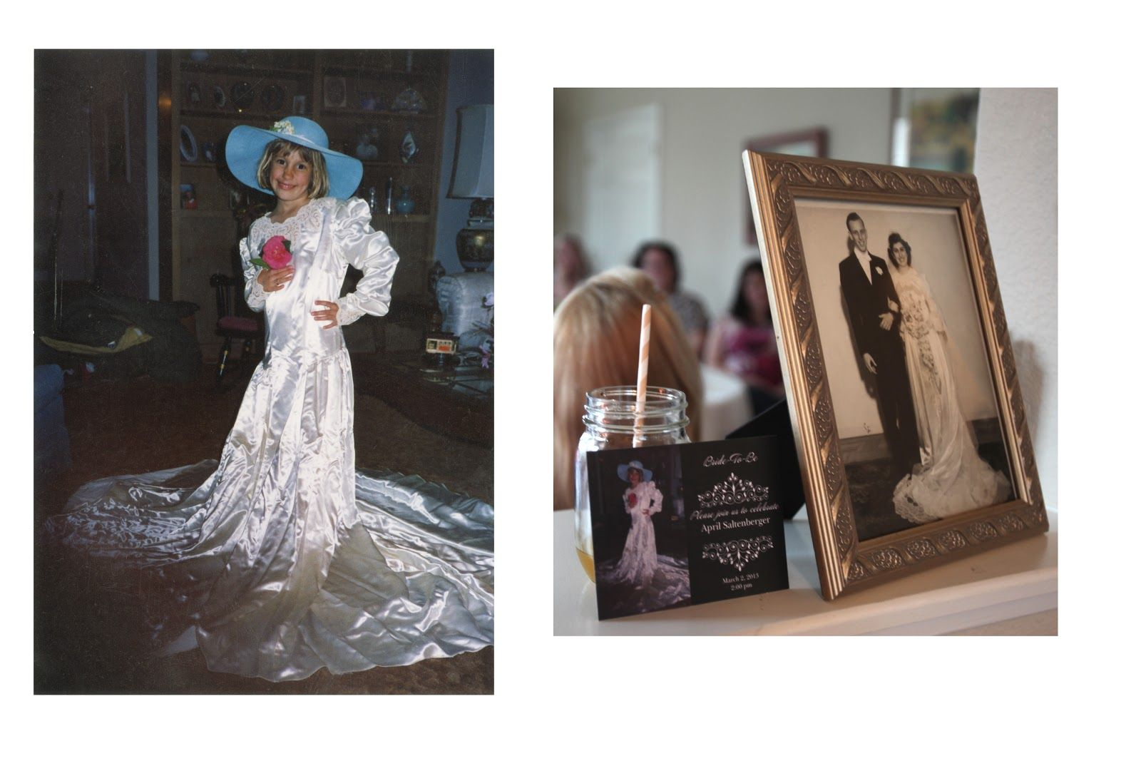 Mother of the bride dresses afternoon wedding  My sister took a photo in our grandmotherus wedding dress when she