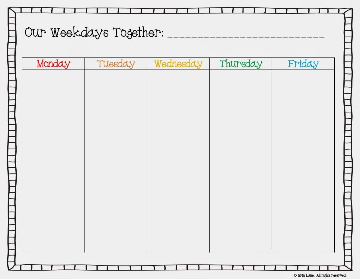 Free Printable Weekday Only Calendar  Google Search  Cool