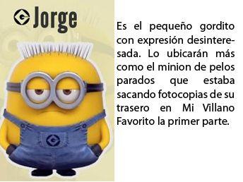 Jorge descripción | Minions | Pinterest