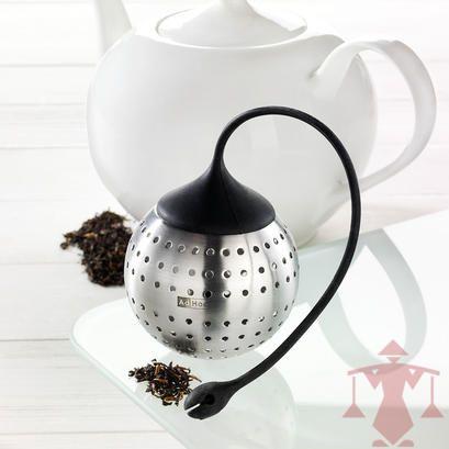 Wunderschöner Teefilter aus Edelstahl. Der flexible Silikonarm wird direkt am Gefäß befestigt.