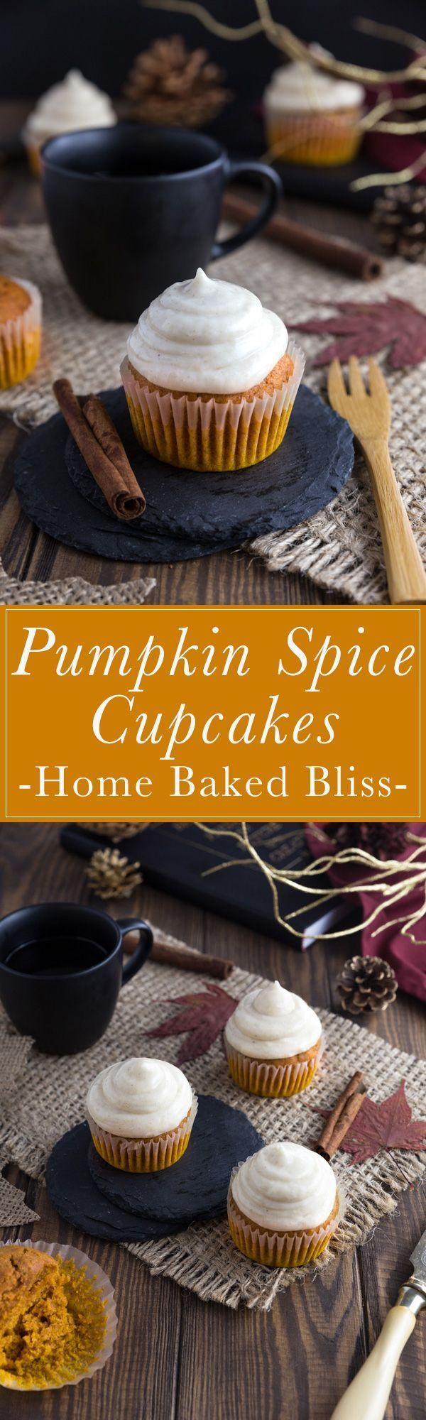 Pumpkin Cupcakes with Cinnamon Frosting #pumpkinspicecupcakes Fluffy and moist pumpkin spice cupcakes with a cinnamon cream cheese frosting. The perfect fall treat! #pumpkincupcakes #pumpkin #cupcakes #pumpkinspice #dessert #falldessert | homebakedbliss.com #pumpkinspicecupcakes Pumpkin Cupcakes with Cinnamon Frosting #pumpkinspicecupcakes Fluffy and moist pumpkin spice cupcakes with a cinnamon cream cheese frosting. The perfect fall treat! #pumpkincupcakes #pumpkin #cupcakes #pumpkinspice #dess #pumpkinspicecupcakes