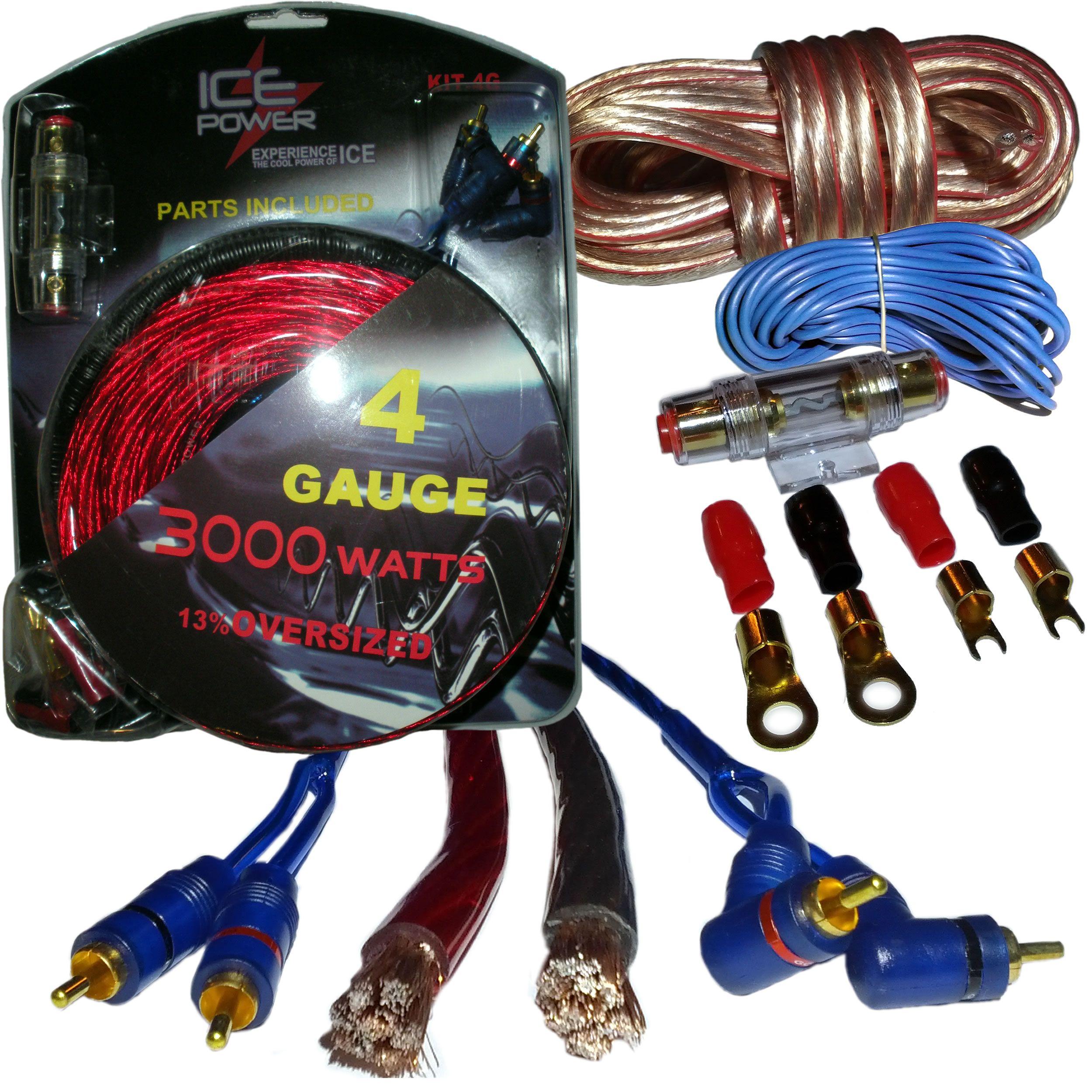 Ice Power Amazoncom Ebaycom The Greatest 4 Gauge Awg Complete Amplifier Wire Install Kit 4g Amp Wiring Ebay