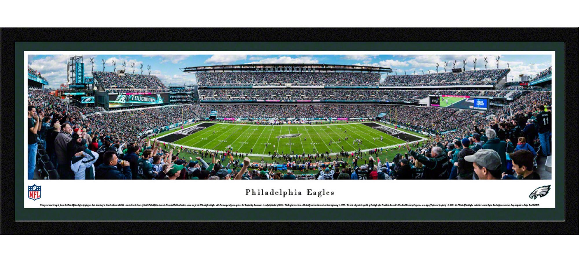 new product 7c840 87e04 Blakeway Panoramas Philadelphia Eagles Framed Panorama ...
