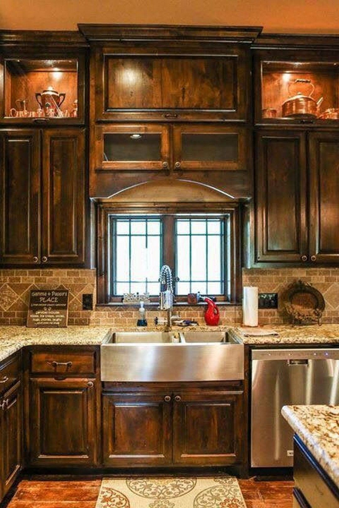 10 cute rustic house kitchen design with images rustic kitchen cabinets rustic kitchen on kitchen decor themes rustic id=47527