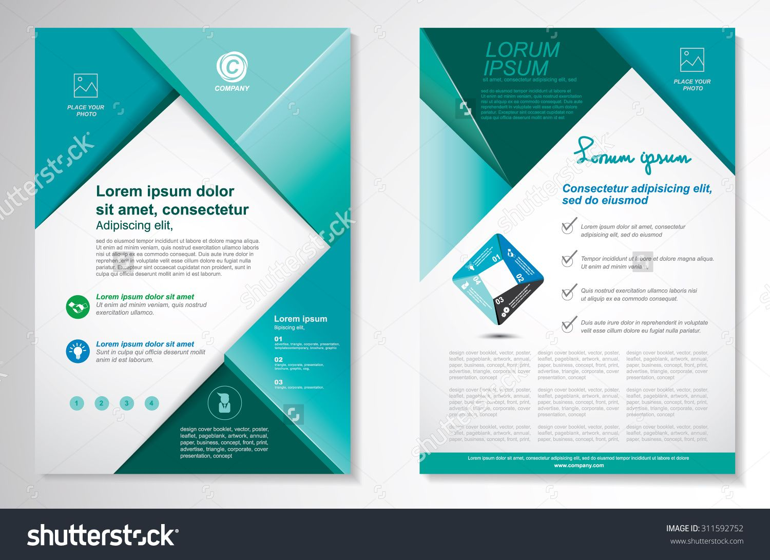 front page design template