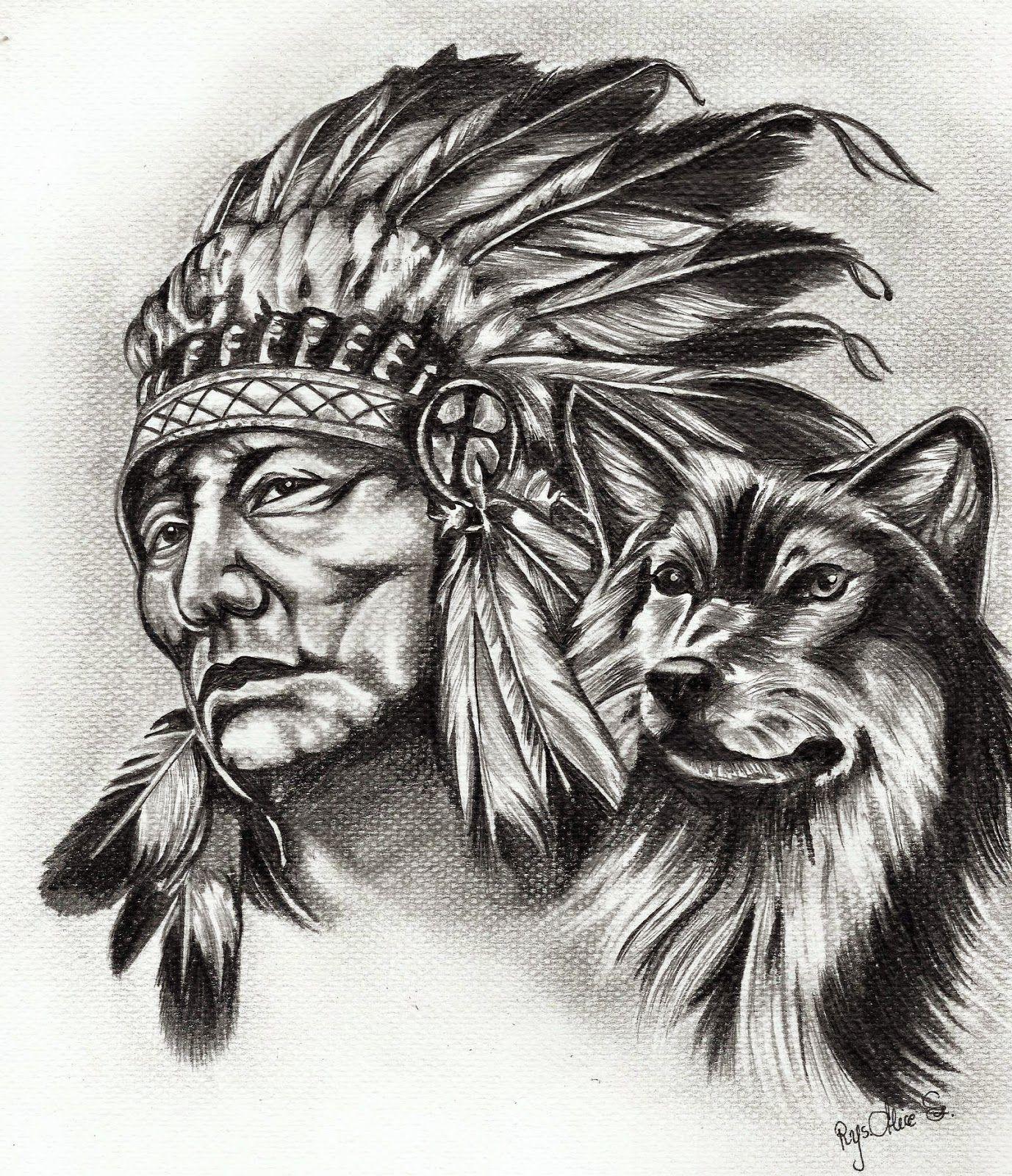 """Alice draws"""" Alicja w krainie rysunku """" Native american"""