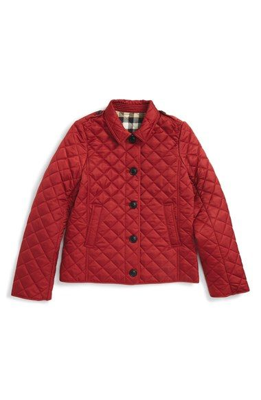 a76e8add5 Burberry 'Mini Ashurst' Quilted Jacket (Little Girls & Big Girls) available  at #Nordstrom