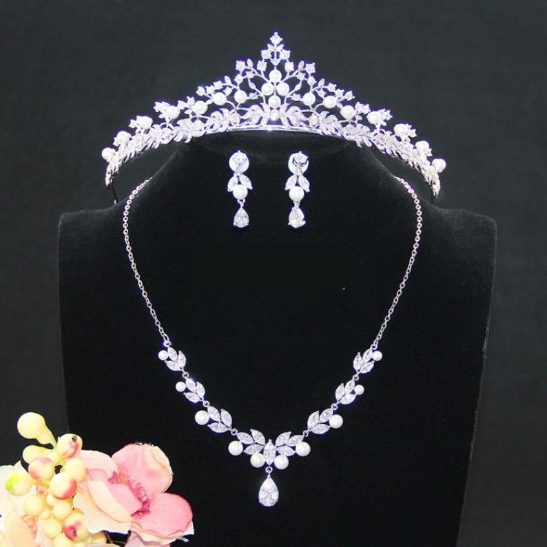 39++ Diamond and pearl bridal jewelry sets ideas
