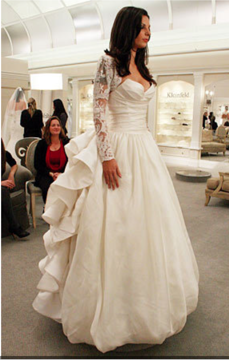 Pnina Tornai Rosette Dress Featured On Say Yes To The Dress Season