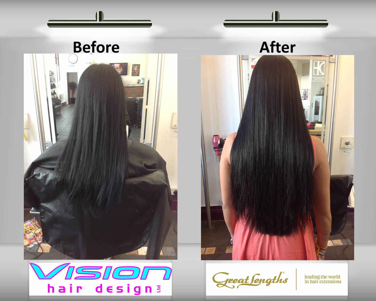 """50cm (20"""") great lengths hair extensions. classic fusion - natural"""