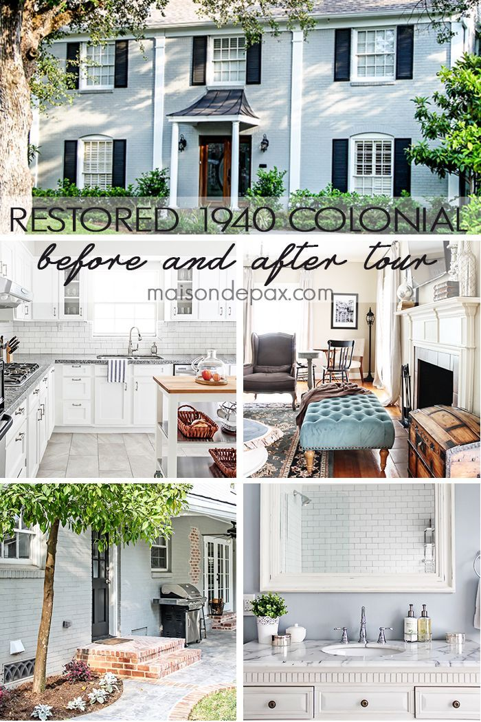 Final Before and After Tour | Colonial, Restoration and Modern