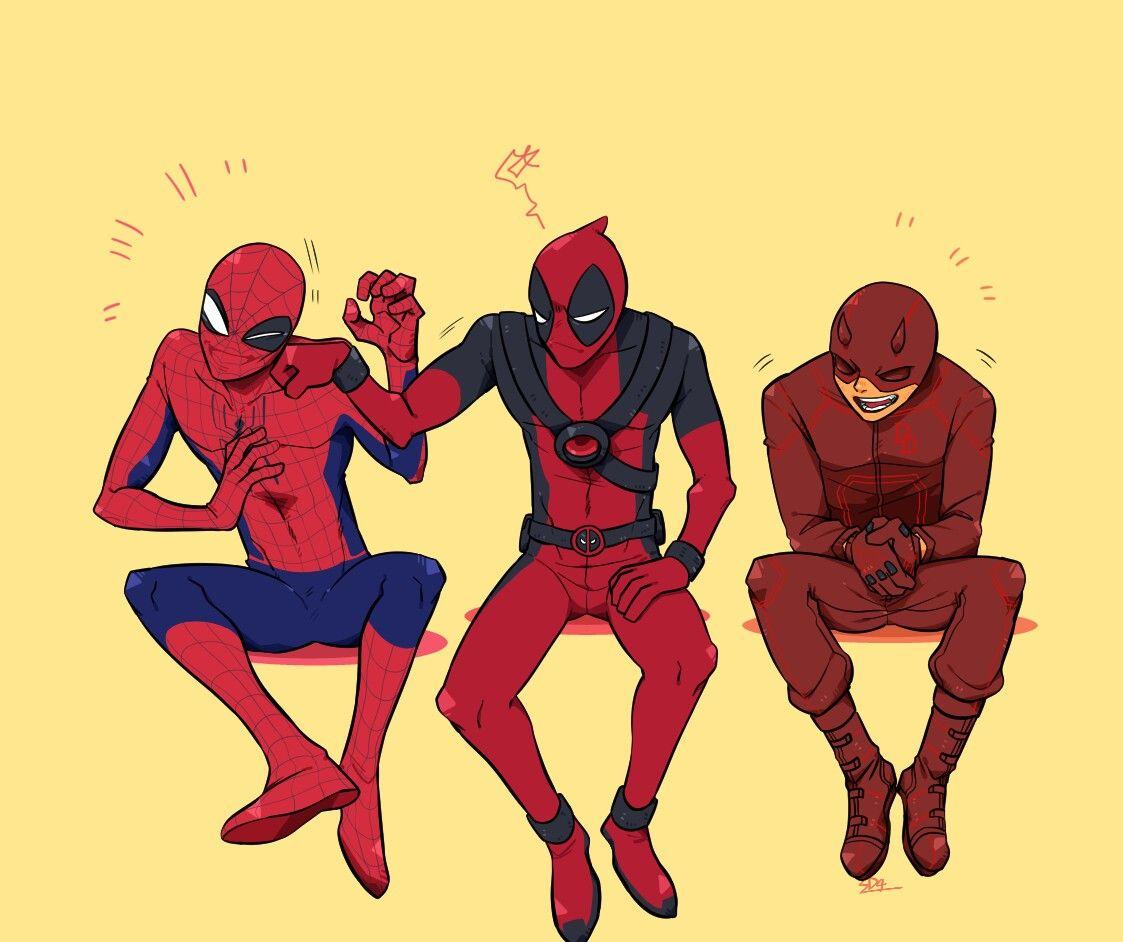 раз картинки марвел дэдпул и человек паук это тот